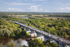 The bridge on the river Klyazma, Vladimir Stock Photography