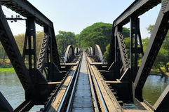 Bridge through river Kwai Royalty Free Stock Image