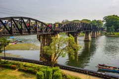 Bridge on the river Kwai and the Death Railway Stock Photo