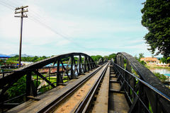 Bridge on the river kwai, Kanchanaburi province Royalty Free Stock Photos