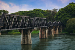 The Bridge on the River Kwai,Kanchanaburi, Thailan Stock Photos