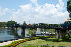 The Bridge of the River Kwai in Kanchanaburi Thailand Stock Photos