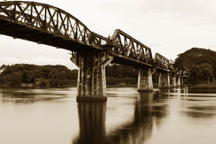 Bridge on the river Kwai Stock Photography