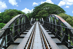 Bridge on the river Kwai Stock Photo