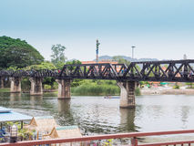Bridge River Kwai. Kanchanaburi, Thailand stock photo