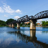 Bridge River Kwai, Kanchanaburi, Thailand Stock Photography