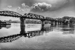 The bridge on the river Kwai Stock Photos