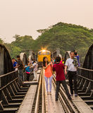 The bridge on the river Kwai stock photography