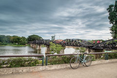 The Bridge on the River Kwai, Kanchanaburi, Thailand Royalty Free Stock Image
