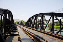 Bridge River Kwai, Kanchanaburi, Thailand . Royalty Free Stock Photography