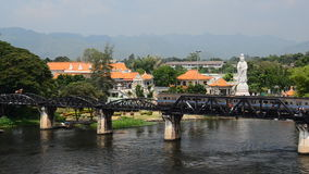 Bridge on the River Kwai. Bridge on the River Kwai,The railway line was built by the Empire of Japan in 1943 to support its forces Japanese into the Burma in stock footage