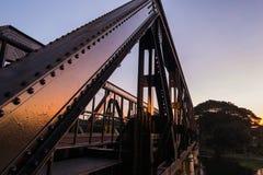 Bridge on the River Kwai. At sunset Stock Photo