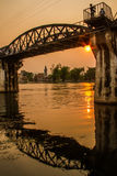 The bridge on the river Kwai Stock Photo