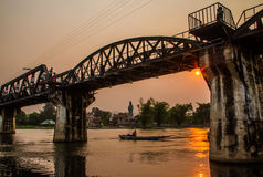 The bridge on the river Kwai Royalty Free Stock Photography
