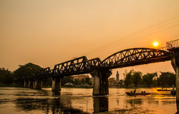 The bridge on the river Kwai Royalty Free Stock Photos