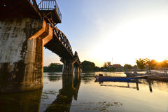The Bridge of the River Kwai in thailand Royalty Free Stock Photography