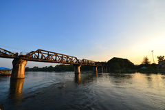The Bridge of the River Kwai in thailand Stock Photography