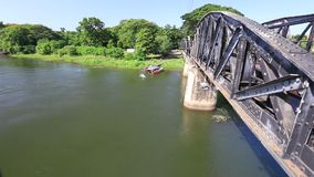 Bridge on the River Kwai. In Thailand stock footage