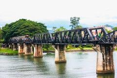 Bridge of River Kwai. In Thailand stock image