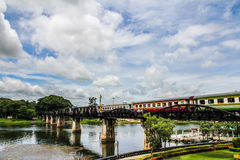 The Bridge of River Kwai. In Thailand royalty free stock images