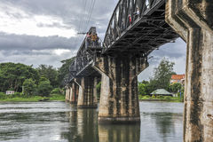 Bridge at the river Kwai, Thailand Royalty Free Stock Images
