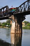 The Bridge on the River Kwai in Thailand royalty free stock image