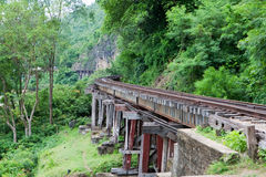 Bridge at the River Kwai, Thamkrasae Bridge Royalty Free Stock Image