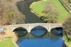 Bridge and river landscape in Bouillon Stock Photography