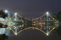 Bridge on the River Maenam Wang in Lampang Royalty Free Stock Photo