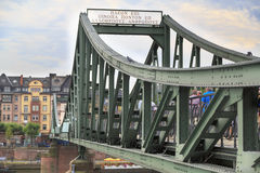 Bridge on river Main in Frankfurt, Germany Stock Image