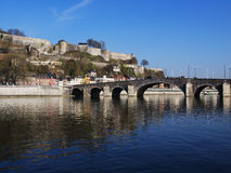 Bridge With River Meuse in Namur Royalty Free Stock Photography
