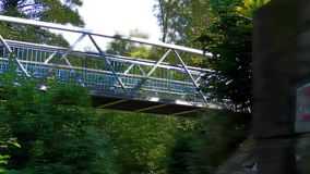 The Bridge on the River. Modern Bridge on the River and Cycle Route stock video