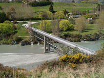 Bridge and river. Bridge over Shotover river, New Zealand Royalty Free Stock Photography