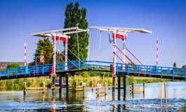 Bridge on the River Rotte, The Netherlands stock image