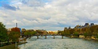 Bridge of the River Seine Stock Photos