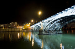 Bridge and river in seville( spain) Royalty Free Stock Photo