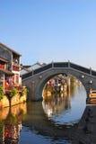 Bridge. A bridge on the river, Suzhou, China Royalty Free Stock Photography