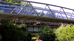 The Bridge on the River and train stock video footage