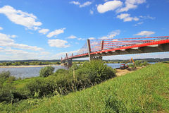 Bridge on the River Vistula Royalty Free Stock Images