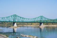 Bridge on the River Vistula Stock Photography