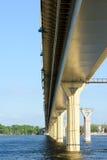 Bridge on the river Volga, Russia Royalty Free Stock Photos