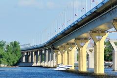 Bridge on the river Volga, Russia Stock Photos