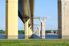 Bridge on the river Volga, Russia Stock Photography