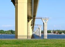Bridge on the river Volga, Russia Stock Photo