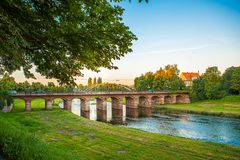 An Evening in Germany Rastatt. stock image