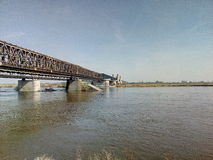 Bridge river Wisła Royalty Free Stock Photo