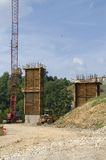 Bridge, road construction work Stock Photos