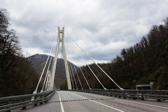 The bridge on the road from Sochi to Krasnaya Polyana Stock Photography