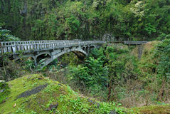 Bridge on Road to Hana, Maui, Hawaii Royalty Free Stock Photo