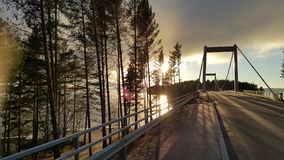 The bridge on the road to sysma finland Royalty Free Stock Photos